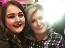 Former Salford student Zoe first met current contestant Beverley Callard back at the New Adelphi Theatre's launch event back in 2017. (Image credit: Zoe King).