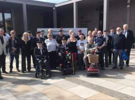 Salford Armed Forces and Veterans Breakfast Club.- Photo Credit: Peter Barlow, 2020.