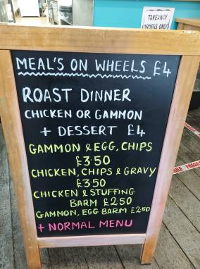 Meals on Wheels daily menu