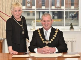 New Ceremonial Mayor sworn in. Image used from Salford Council press release. Safe for use.