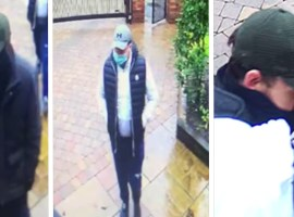 Three CCTV screenshots of burglars on Fairmount Road, Salford. Image credit: GMP