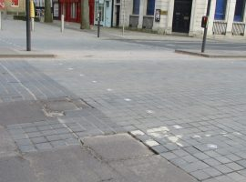 Chapel Street damaged road. Image credit: Salford council. Sent in press release