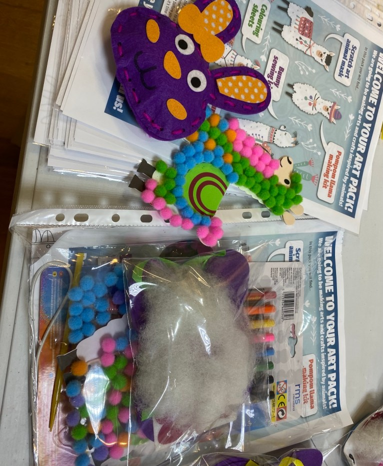 Activity packs by community centre