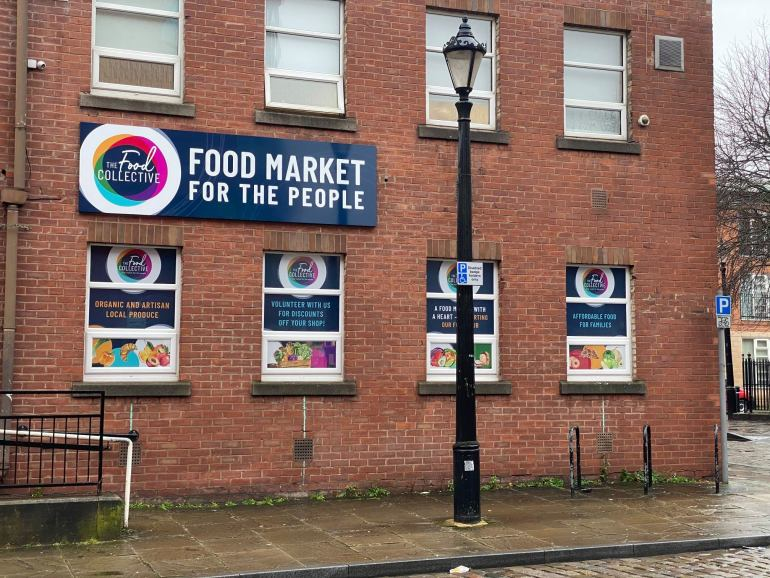 Salford non-profit food market, The Food Collective.