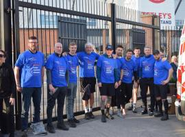 Ben Lever and the group of walkers raising money for the MND Association.