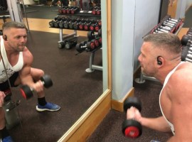 Personal Trainer, Lee Marks uses exercise to help his mental health, Credit: Lee Marks