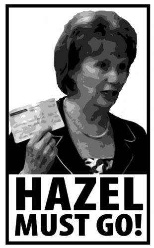 Hazel Blears Must Go poster