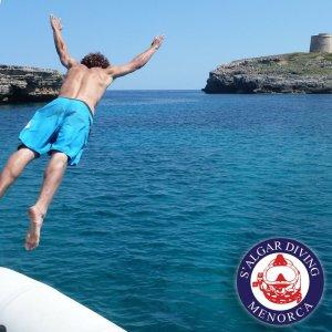 Boat excursions in Menorca with S'Algar Diving