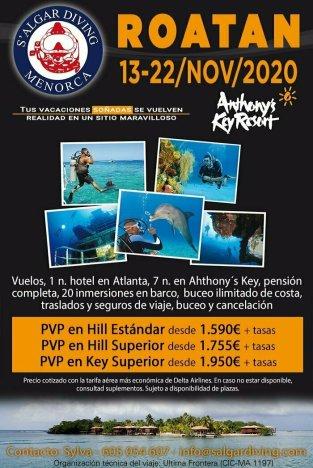 Viaje anual con Salgar Diving 2020 Roatán