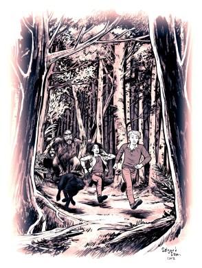 YA fiction illustration