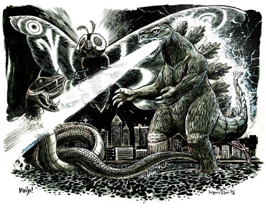 Kaiju monster fight!
