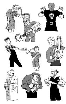 Cartooning for TV props - shooting gallery cutouts