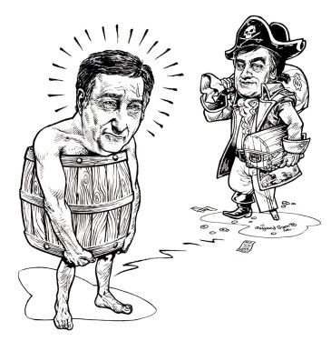 Political caricatures - weekly cover