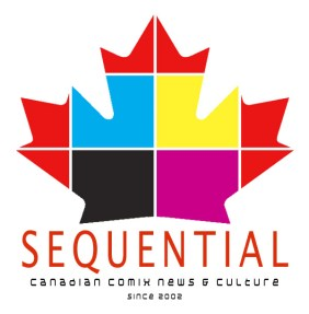 Logo for a comics news blog.