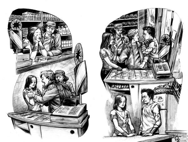 YA romance book illustration