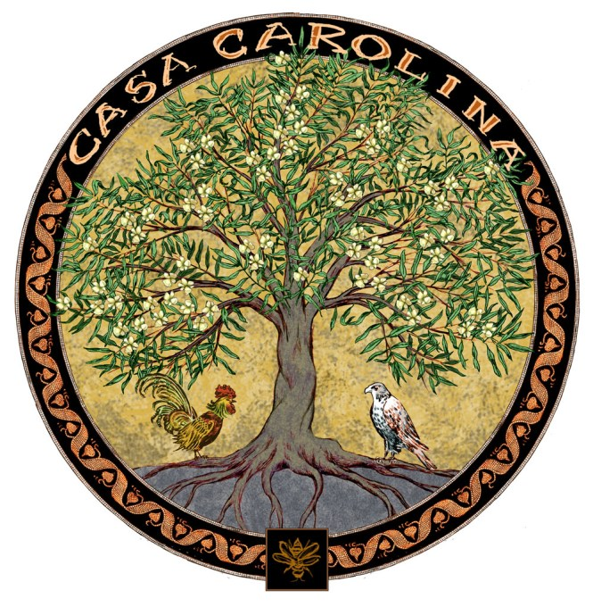 Family crest mosaic design