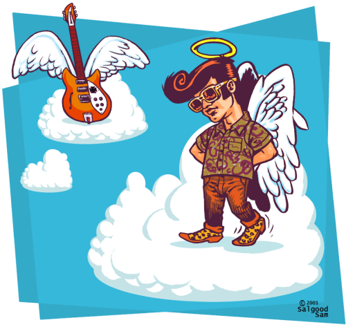 illustration - Dead Elvis