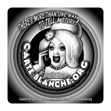 Promotional coasters for Carte Blanche magazine - art by Nina Bunjevac