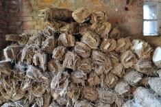 Lehm-Stroh-Rollen für die Fertigung von Decken