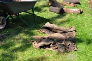 decomposed jute sacks