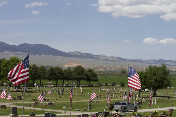 Salina Utah's Pioneer Cemetery on Memorial Day 2013