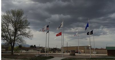 Progress is being made each week on the New Veterans Memorial in Salina, Utah. - Photo by Kirk Rasmussen