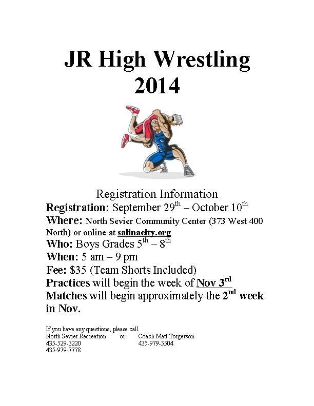 Jr high wrestling