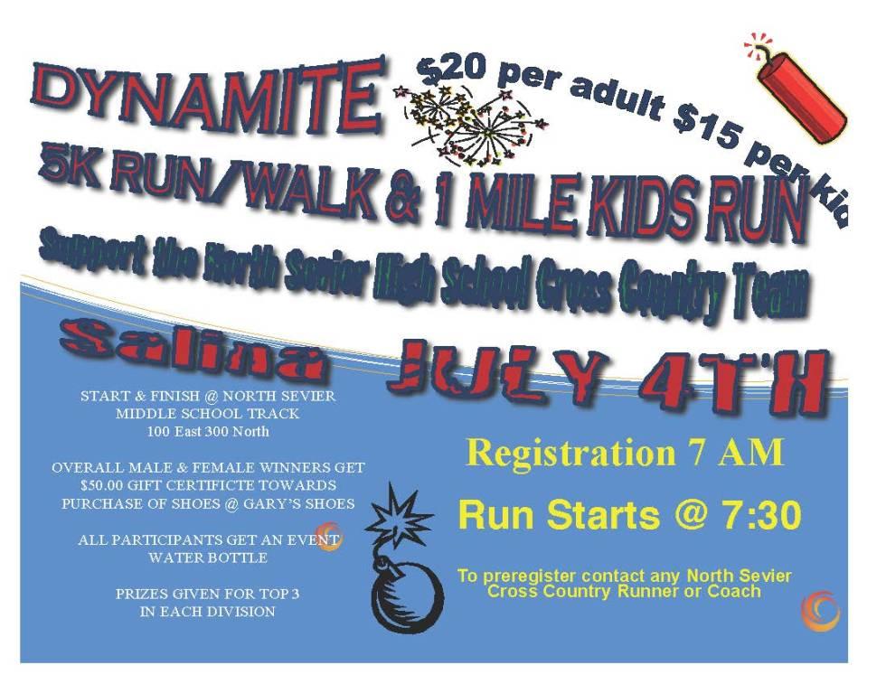 Dynamite 5K flyer