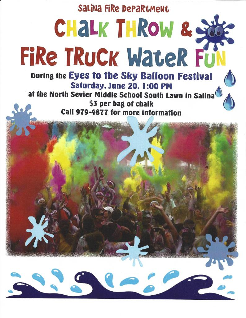 Eyes to the Sky Fire Truck Water Fun & Color