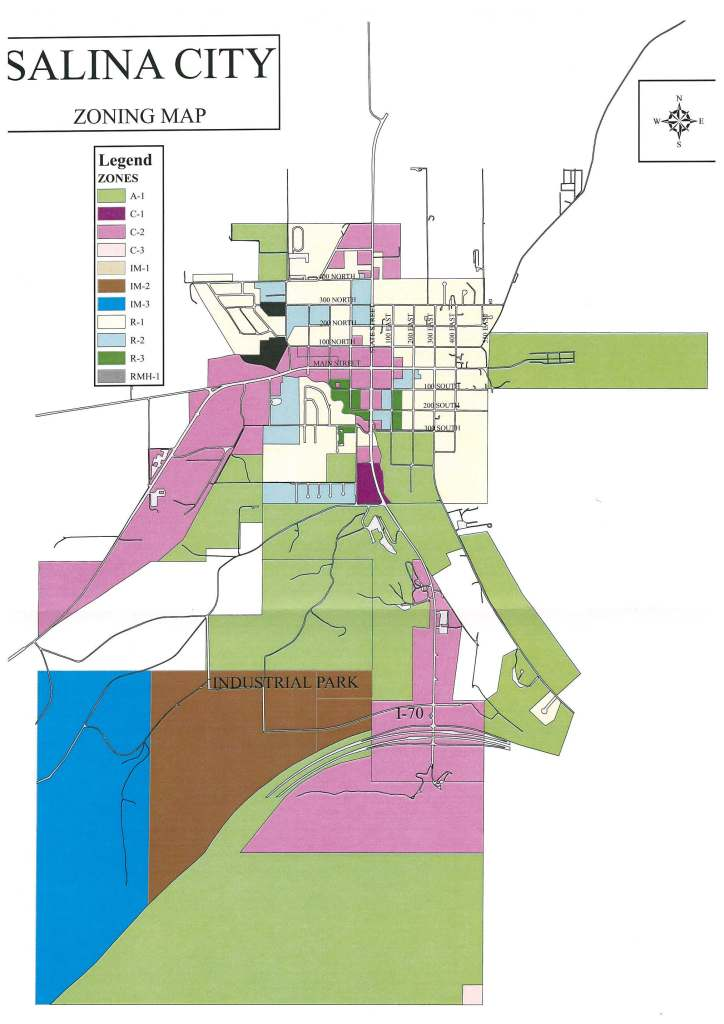 salina city zoning map