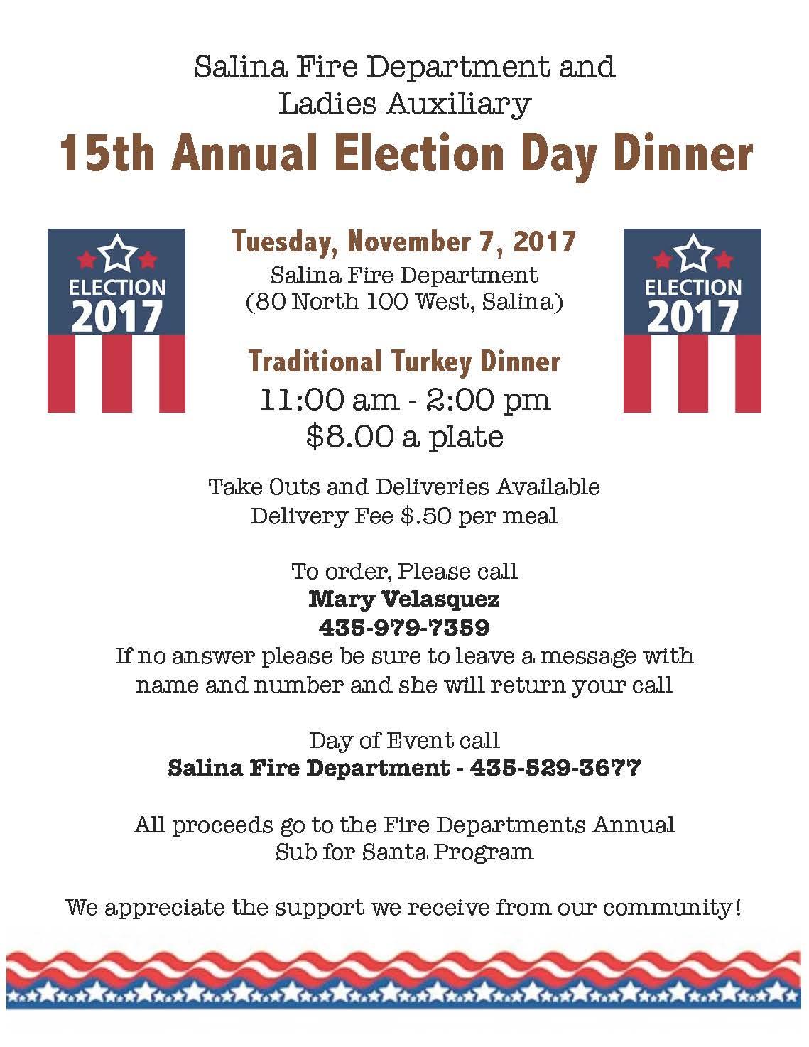 2017 Election Day Dinner - Salina City
