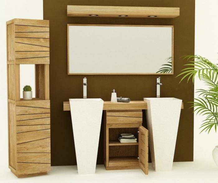 meuble de salle de bain salerne l150 cm en teck