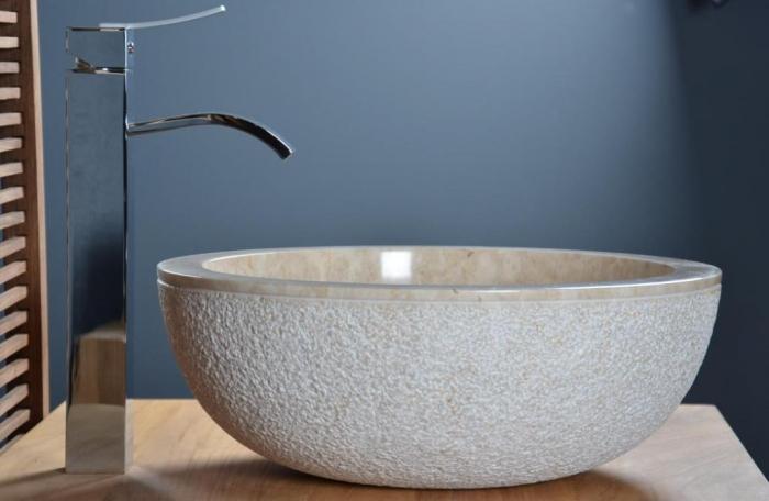 vasque en marbre beige crozon aqua