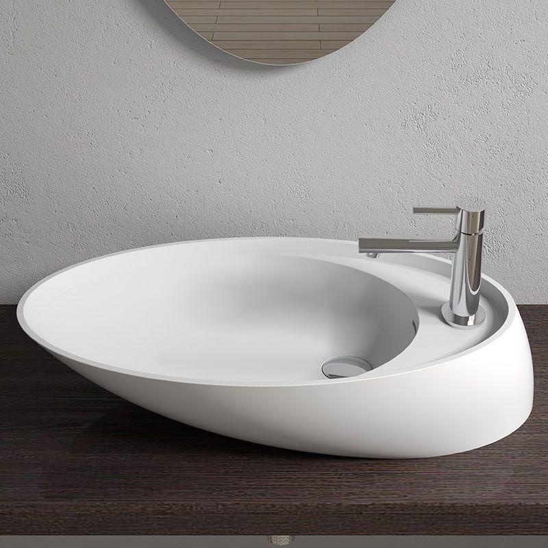 Vasque Design En Solid Surface Vasque Design Blanc Mat Sdv38 Salledebain Online