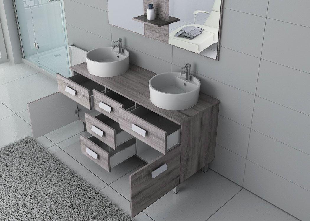 meuble de salle de bain chene gris 2
