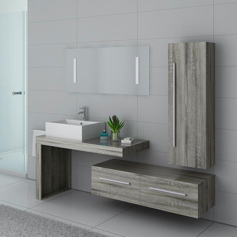 meubles salle de bain dis9250cg chene gris