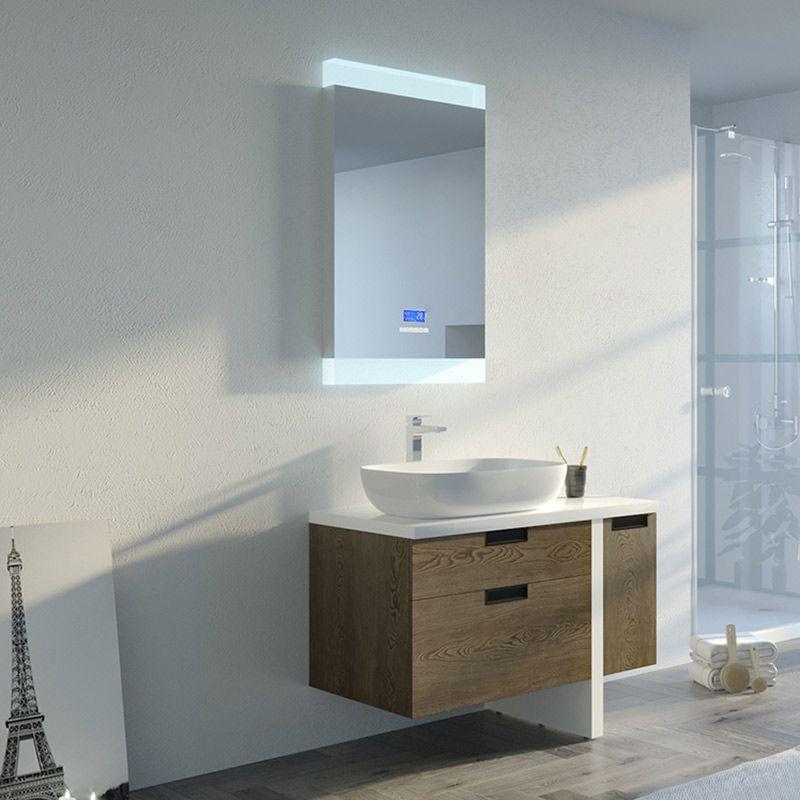 meuble salle de bain scarlino 1000 chene grise