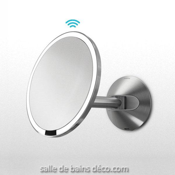 Miroir Grossissant Miroir Flexy Light A Ventouse Lady Mirror Led Rechargeable Miroir Lumineux Mural A Capteur 20cm Miroir Pro Grossissant Capteur Sans Fil 20cm Gina Miroir Grossissant 3x