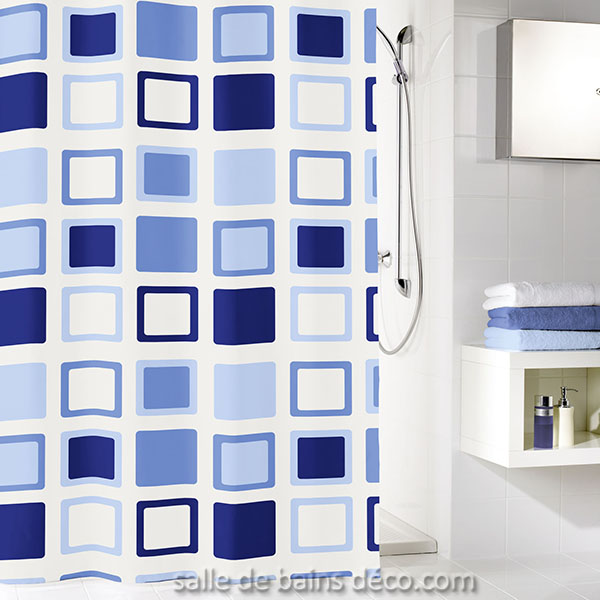 clipper bleu rideau de douche
