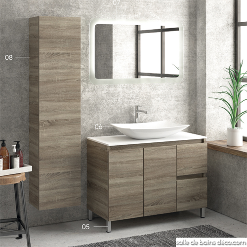 Meuble Vasque Moderne 100 Cm Salledebainsdeco Com