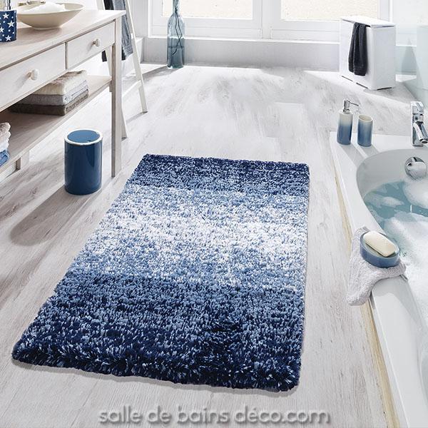 tapis salle de bain oslo bleu 3 tailles