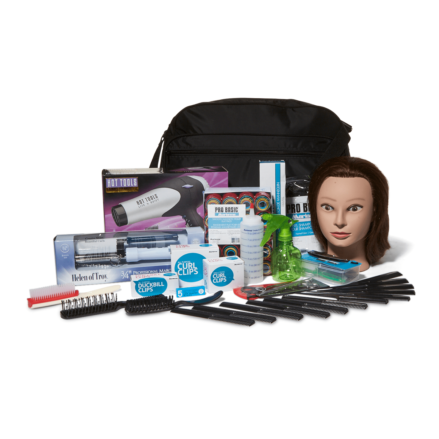 Soft Side Plete Beauty School Kit With Hairdryer