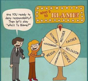 Who's to blame wheel