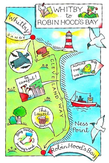 whitby walk map
