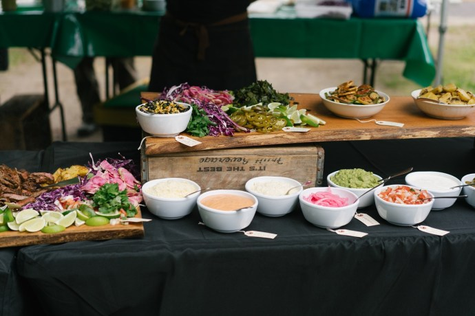Colorful and healthy wedding buffet