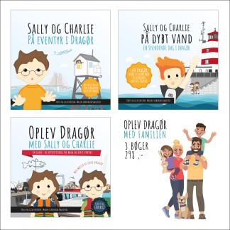 Alle tre Sally og Charlie bøger om Dragør