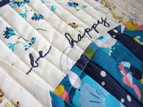 Be happy mini quilt