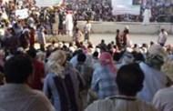 المئات من أبناء المهرة يخرجون في تظاهرة يطالبون بضم محافظتي المهرة وسقطرى في إقليم واحد