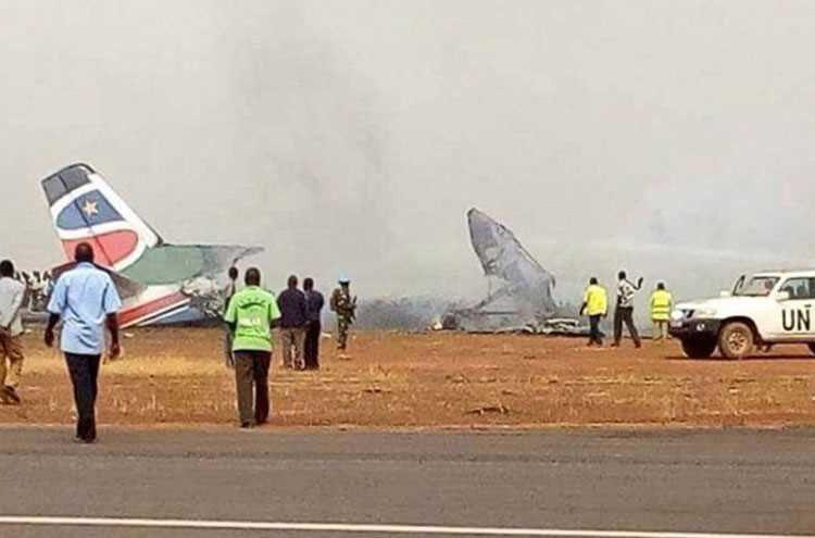 تحطم طائرة ركاب تابعة لجنوب السودان على متنها 40 راكبا