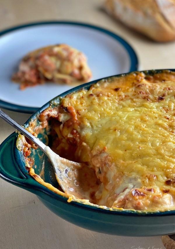 The recipe for a delicious Salmon Lasagna